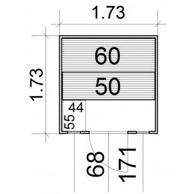 Afbeelding 3 van Azalp Massieve sauna Rio Optic 173x173 cm, 39 mm