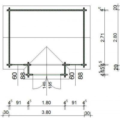 Bild 2 von Azalp Blockhaus Essex 400x300 cm, 45 mm