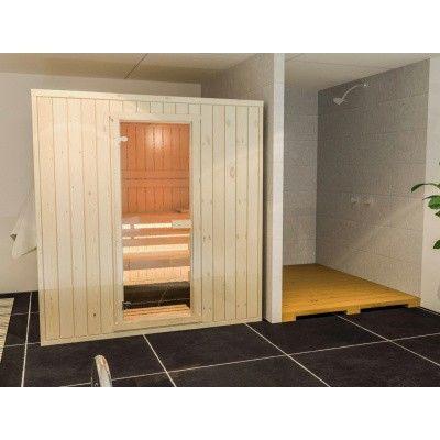 Hoofdafbeelding van Azalp Massieve sauna Rio Standaard 163x130 cm, 39 mm