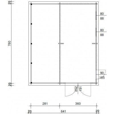 Bild 11 von Azalp Garage Lagra 661x800 cm, 95 mm