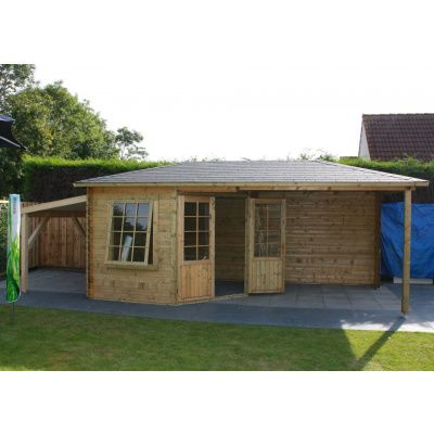 Bild 5 von Interflex Blockhaus 3055 Z, Seitendach 500 cm