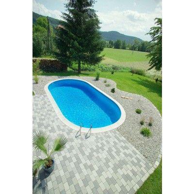 Afbeelding 22 van Trend Pool Boordstenen Tahiti 530 x 320 cm wit (complete set ovaal)