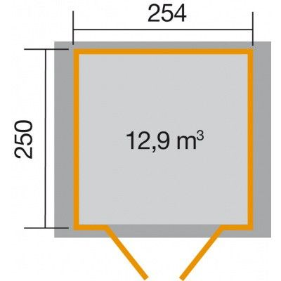 Afbeelding 2 van Weka Tuinhuis 316 Gr. 4