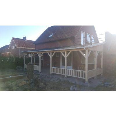 Bild 27 von Azalp Terrassenüberdachung Holz 600x250 cm