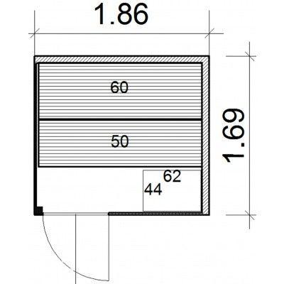 Afbeelding 44 van Azalp Prisma elementsauna 186x169 cm, elzen