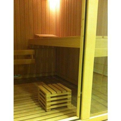 Afbeelding 2 van Azalp Sauna Voethocker elzen 20 cm