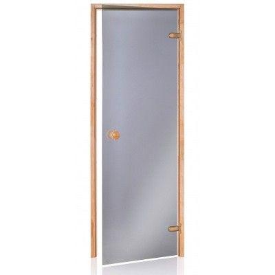 Hoofdafbeelding van Hot Orange Saunadeur Scan 90x200 cm, mat grijs 8 mm elzen