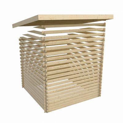 Afbeelding 5 van Woodfeeling Bastrup 5 met veranda 200 cm (73994)
