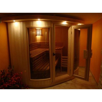 Afbeelding 3 van Azalp Sauna Runda 280x237 cm elzen