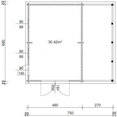 Afbeelding 11 van Azalp Garage Lagra 770x700 cm, 95 mm
