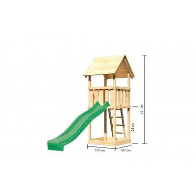 Afbeelding 2 van Akubi Speeltoren Lotti met glijbaan (89343)