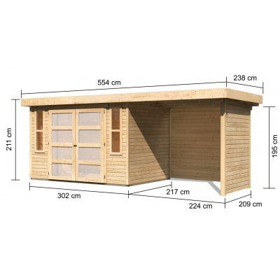 Afbeelding 2 van Woodfeeling Leuven 4 met veranda 240 cm