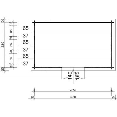 Bild 97 von Azalp Blockhaus Ingmar 500x300 cm, 30 mm