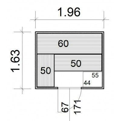 Afbeelding 5 van Azalp Massieve sauna Rio Standaard 196x163 cm, 39 mm