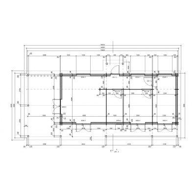 Bild 4 von Graed Toscana Chalet 595x1400 cm, 44 + 44 mm (Doppelwandig)