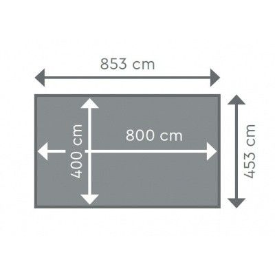Afbeelding 2 van Procopi Liner tbv Odyssea rechthoek 8x4, h146 blauw 75/100