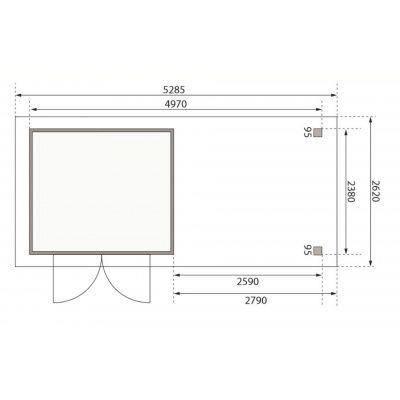 Afbeelding 2 van Woodfeeling Askola 3,5 met veranda (77721)