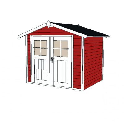 Afbeelding 3 van Weka Tuinhuis 122 Gr. 3 Zweeds rood