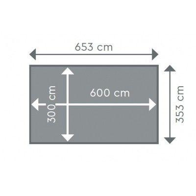 Afbeelding 2 van Procopi Liner tbv Odyssea rechthoek 6x3, h133 blauw 75/100