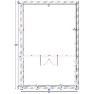 Afbeelding 2 van Azalp Ceder Chalet 534x534 cm, 60mm