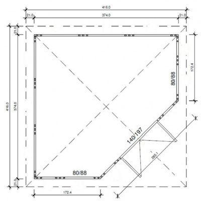 Bild 2 von Azalp Blockhaus Arno 3737k(A), 30 mm
