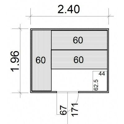 Afbeelding 5 van Azalp Massieve sauna Rio Standaard 240x196 cm, 39 mm