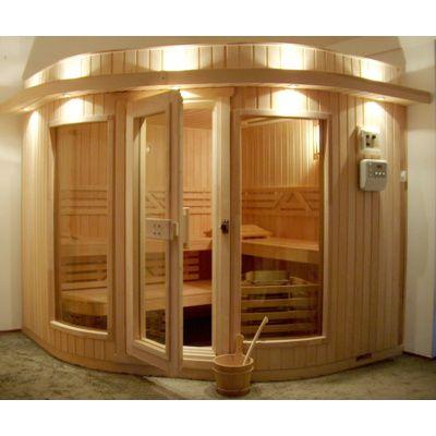 Hoofdafbeelding van Azalp Sauna Runda 203x203 cm elzen