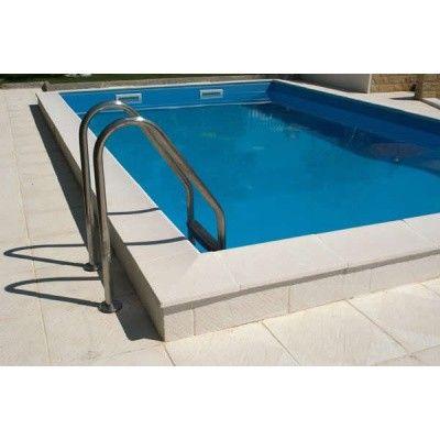 Afbeelding 9 van Trend Pool Boordstenen Ibiza 450 wit (complete set rond)