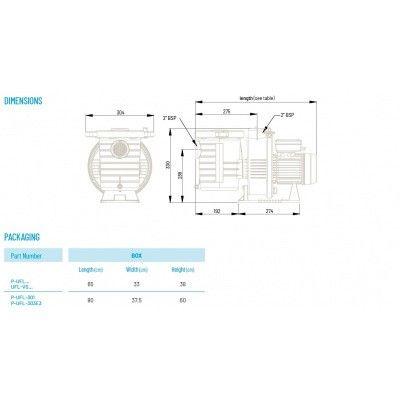Afbeelding 3 van Pentair Ultraflow Plus 33 m3/u TRI P-UFL-303E3 (krachtstroom)
