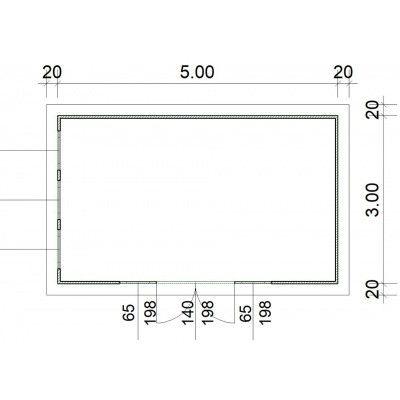 Afbeelding 2 van SmartShed Blokhut Zenon 500x300 cm, 45 mm