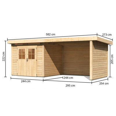 Afbeelding 2 van Woodfeeling Kortrijk 2 met veranda 300 cm