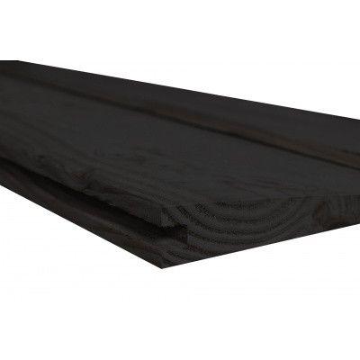 Afbeelding 3 van WoodAcademy Zijwand Vuren 400 cm Zwart (135425)*