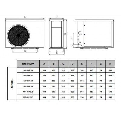 Afbeelding 5 van Fairland BWT MyPool 6,2 kW step Inverter mono zwembad warmtepomp (14 - 28 m3)