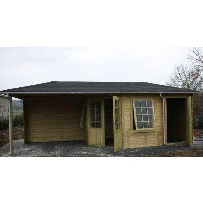 Bild 4 von Interflex Blockhaus 4355 Z, Seitendach 450 cm