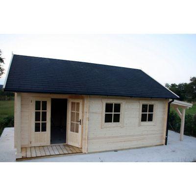 Afbeelding 20 van Azalp CLASSIC blokhut Cottage Style Cumberland 520x430 cm, 45 mm