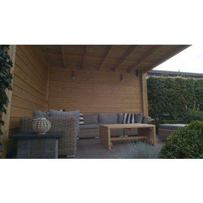 Afbeelding 4 van WoodAcademy Nefriet excellent Douglas blokhut 580x400 cm