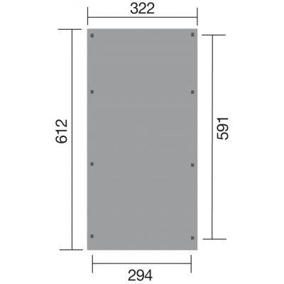 Afbeelding 2 van Weka Carport 617 Gr. 2 PVC dak