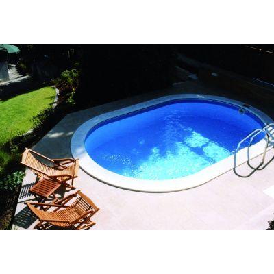 Hauptbild von Trend Pool Beckenrandsteine Tahiti 800 x 400 weiß (für Ovalbecken)