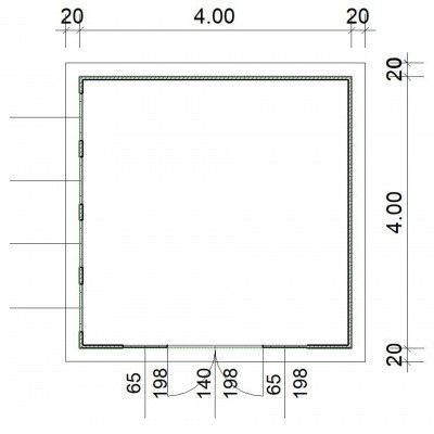Afbeelding 2 van SmartShed Blokhut Zenon 400x400 cm, 30 mm