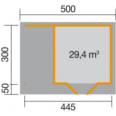 Bild 2 von Weka Designhaus 126 A Gr.2, 445x300 cm Schwedenrot