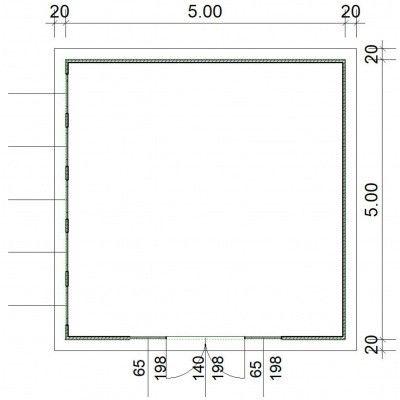 Afbeelding 2 van SmartShed Blokhut Zenon 500x500 cm, 45 mm