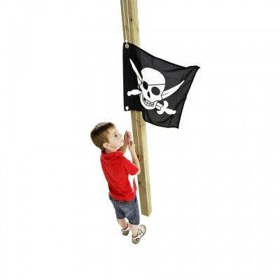 Afbeelding 2 van Akubi Piraat vlag (82594)*