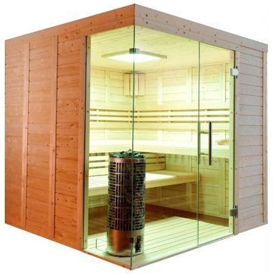 Hoofdafbeelding van Azalp Sauna Luja 210x210 cm, 45 mm