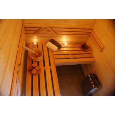 Afbeelding 19 van Azalp Saunabank recht, Elzen breedte 70 cm