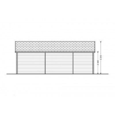 Afbeelding 7 van Graed Modern Garage 600x800 cm, 44 mm