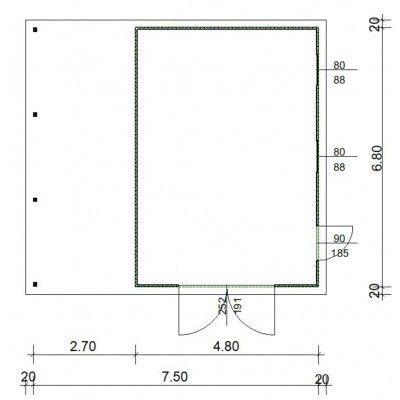 Afbeelding 4 van Azalp Garage Cidro 750x680 cm, 45 mm