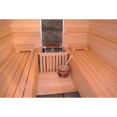 Afbeelding 30 van Azalp Saunabank recht, Elzen breedte 40 cm