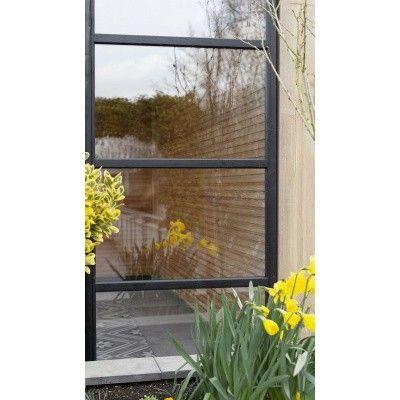 Afbeelding 6 van WoodAcademy Zijwand 400 cm glas met roede*