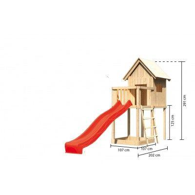 Afbeelding 2 van Akubi Speeltoren Frieda met glijbaan (91177)