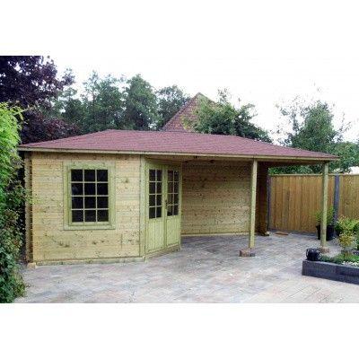 Bild 11 von Interflex Blockhaus 3555 Z, Seitendach 450 cm